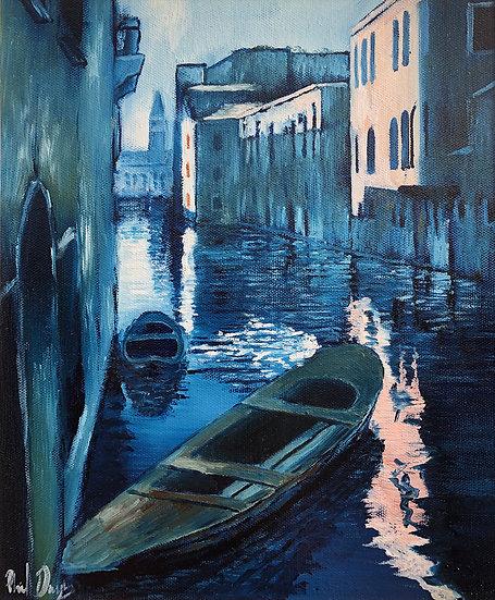 Blue Gondola. Venice Study No. 3. 2006