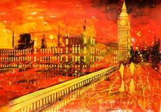 Landscape Study. Westminster And Big Ben
