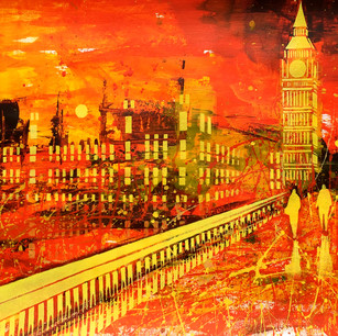 Landscape Study. Westminster And Big Ben