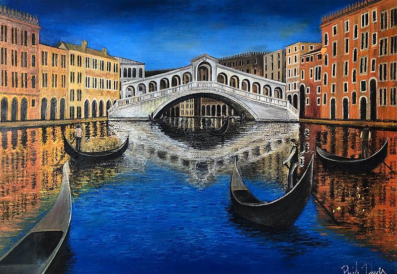Adelina. Rialto Bridge, Venice. 2006