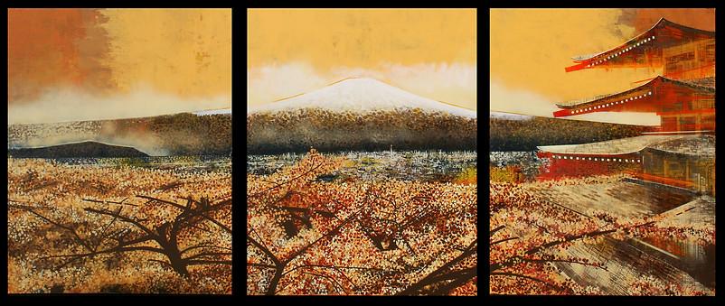 Misty Mount Fuji. Waido Kaichin