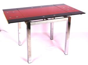 Обеденный стол ТВ 017-4 черно-красный