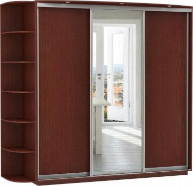3-х дверный, корпус орех Мария-Луиза, двери ДСП, зеркало