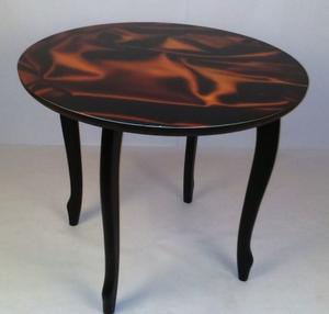 Обеденный стол Принт 5.6 коричневый шелк