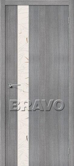 Дверь ЭКО Порта-51 (Grey) Crosscut