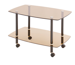 Журнальный стол Сервировочный тонированное стекло