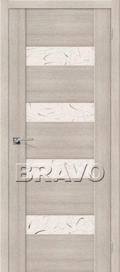 Дверь ЭКО VM4 (Cappuccino) Veralinga Silver Art