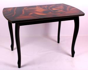 Обеденный стол Принт 5.5 коричневый шелк