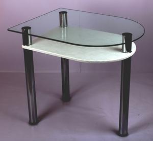 Обеденный стол 4.4 белый кристалл
