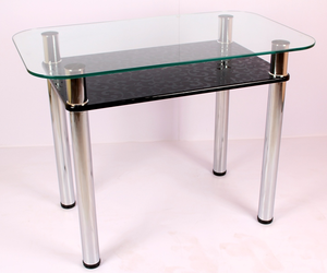 Обеденный стол 3.4 черный гобелен