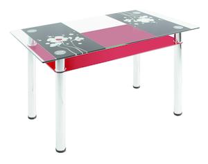 Обеденный стол  3.7 черно-красный