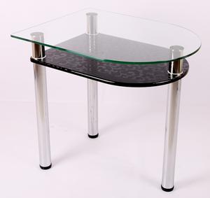 Обеденный стол 4.4 черный гобелен