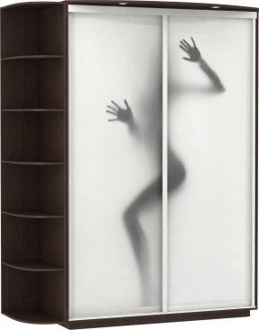 2-х дверный, корпус Венге, двери фотопечать №404