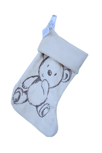 Christmas Stocking for Baby in Ivory