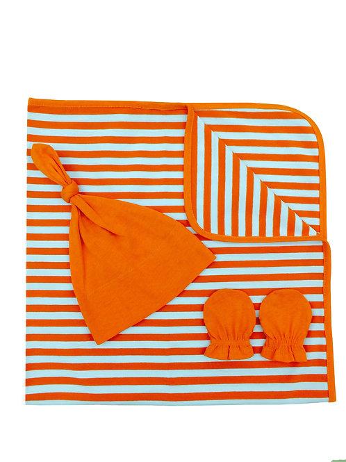 Stripped Cotton 3pc Gift Set - Sunburst
