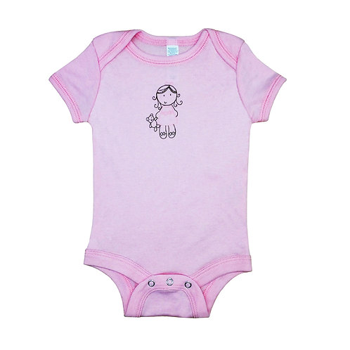 Lil Girl_Short Sleeve Onesie_Pink