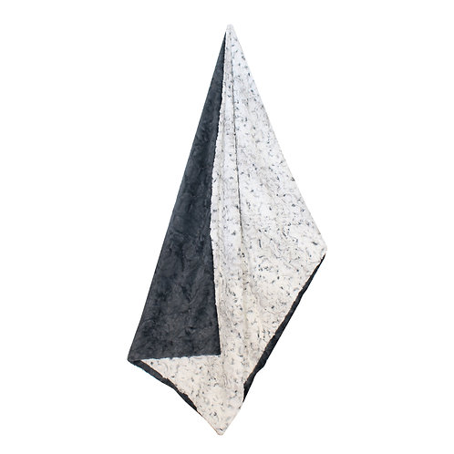 Adult Throw Blanket: Marble Gunmetal