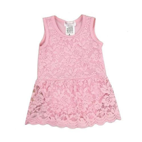 One-Piece Lace Dress Pink