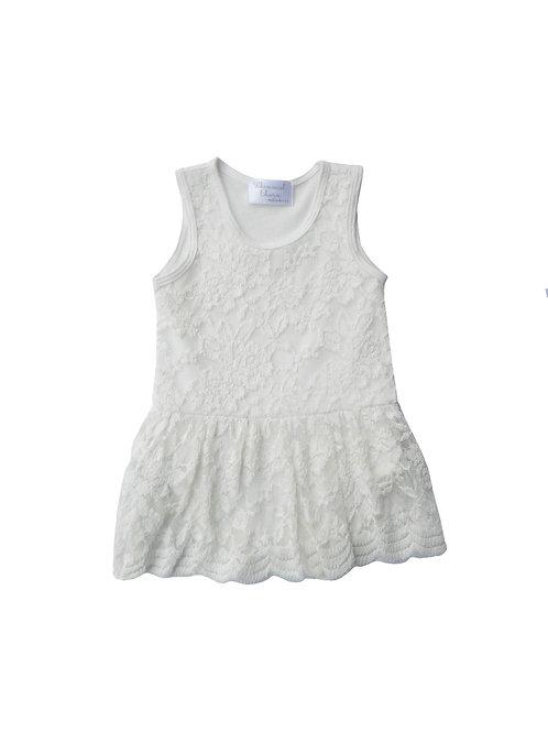 One-Piece Lace Dress Ivory