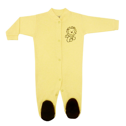 Baby Pajamas - Yellow Lion