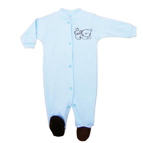 Baby Pajamas - Blue Tiger