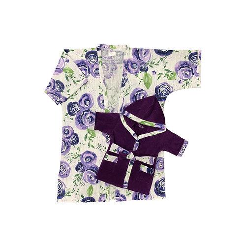 Mommy & Me Kimono Robes in Boysenberry