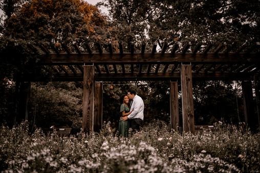 atlanta botanical gardens engagement photos
