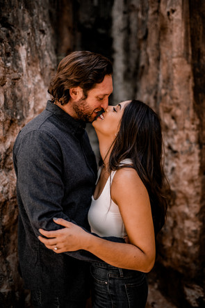 providence canyon state park engagement photos