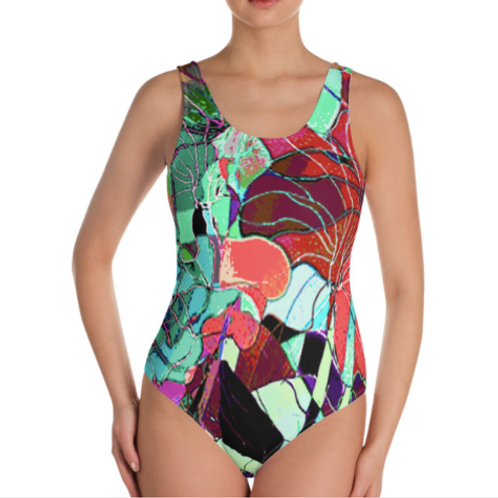"""""""Fall Flowers"""" One Piece Swimsuit"""