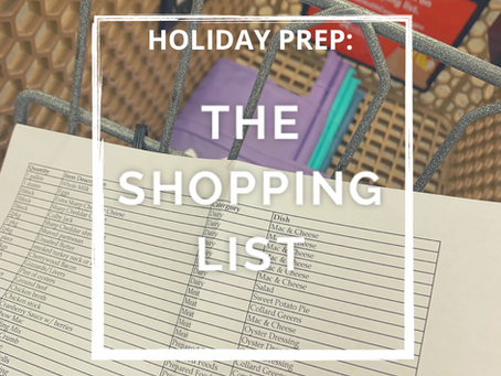 Holiday Prep- The Grocery List