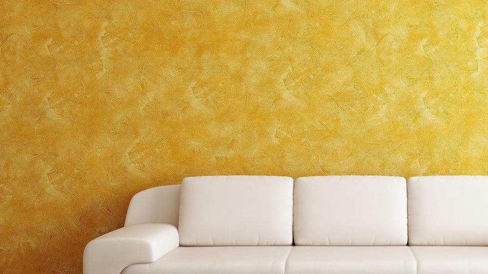 intetior-room-with-orange-wall-and-white