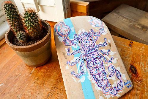 Snapped Skateboard Scorpion