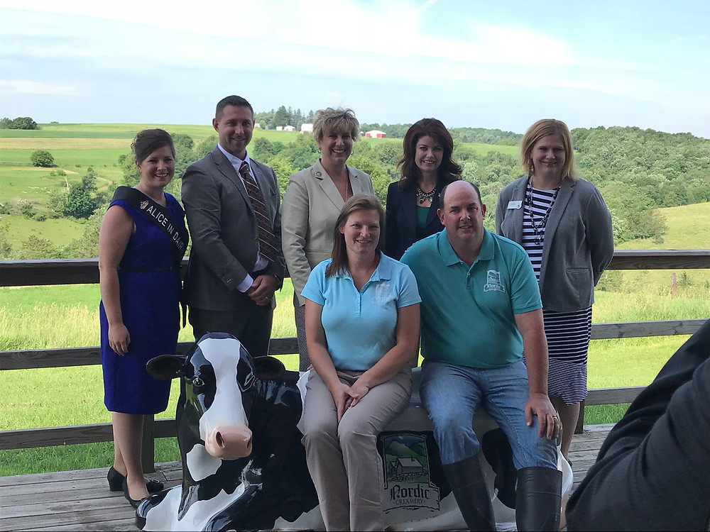 Representatives visit Nordic Creamery in Westby
