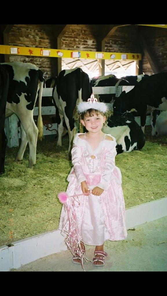 My cousin Lauren dressed up at the fair