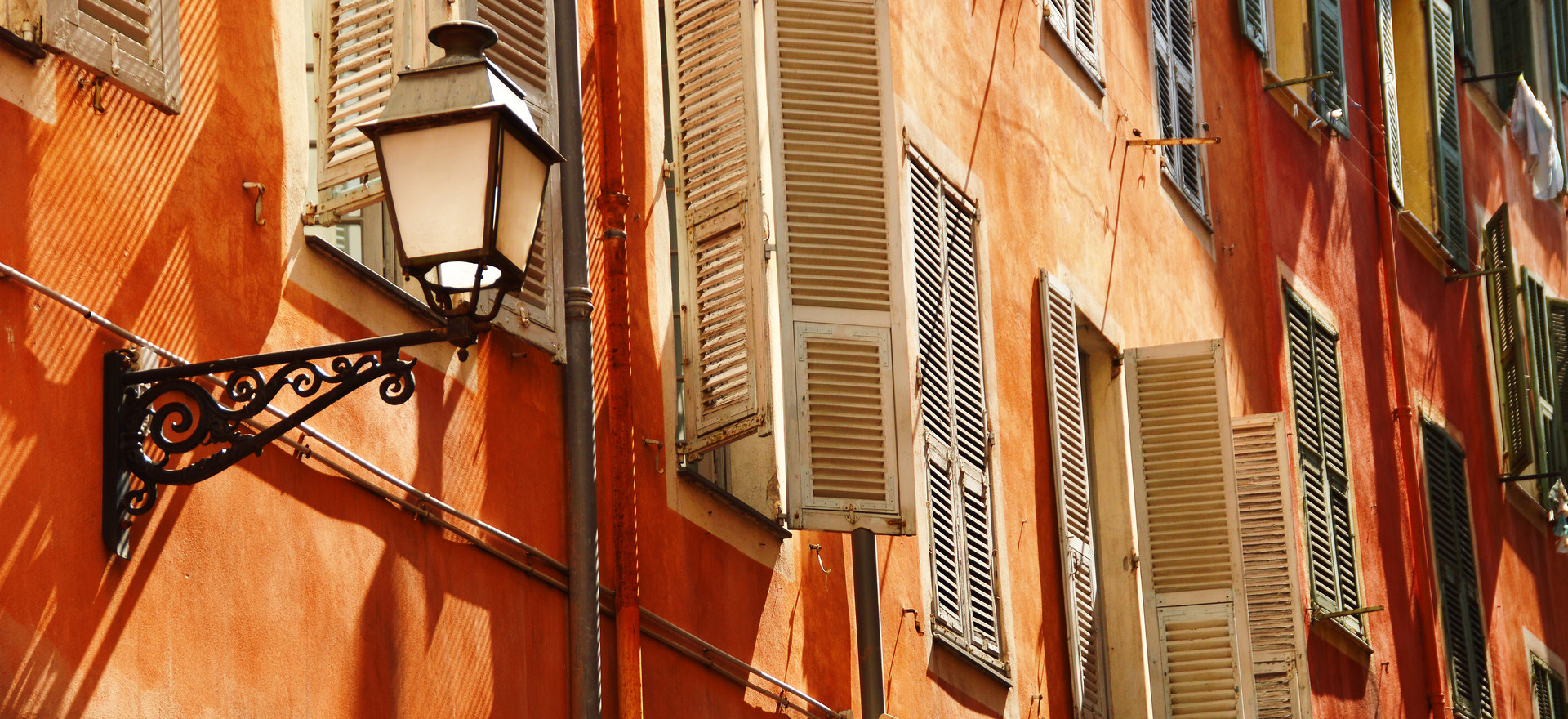 Old town architecture of Nice on French