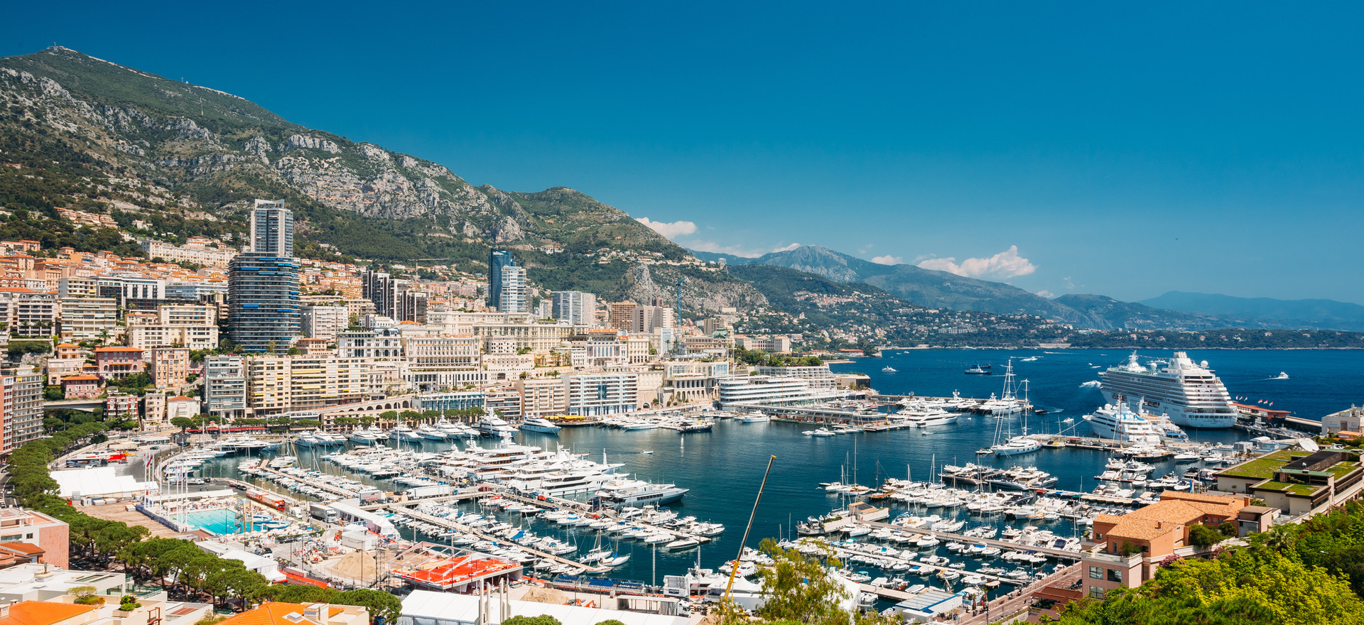 Monaco, Monte Carlo cityscape. Real esta