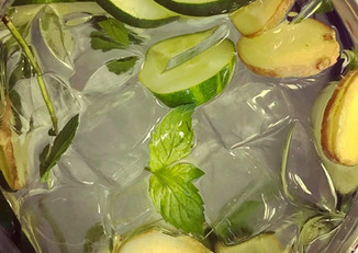 Fresh Infused Water | Cucumber Ginger & Basil