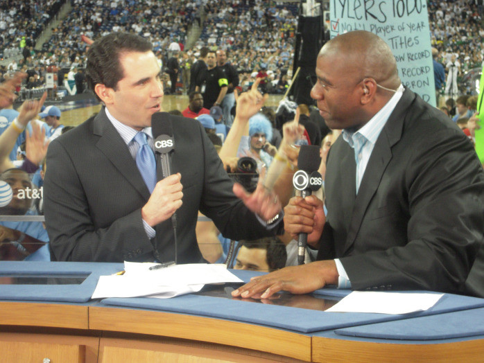 Yeah, sign me up for whatever job involves chatting with Magic Johnson.