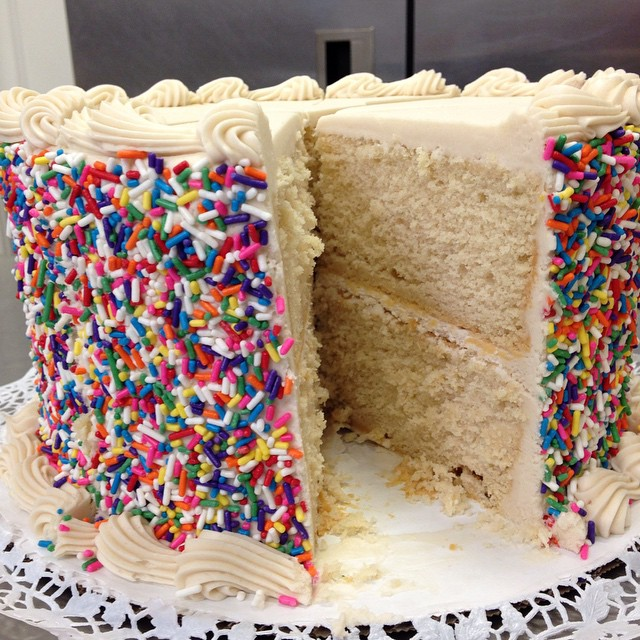 """Old School Vanilla"" Cake"