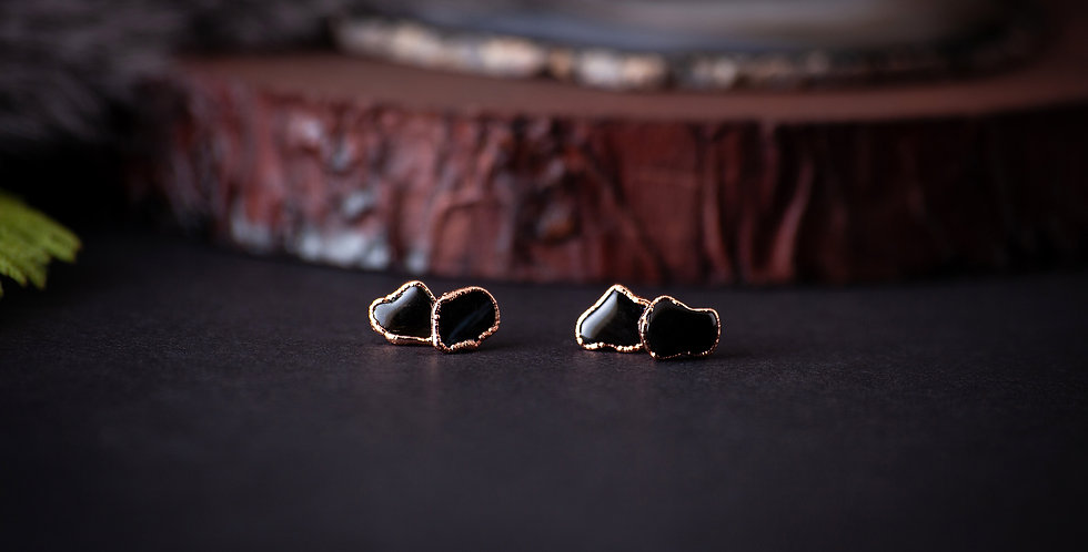 Black Obsidian Earrings