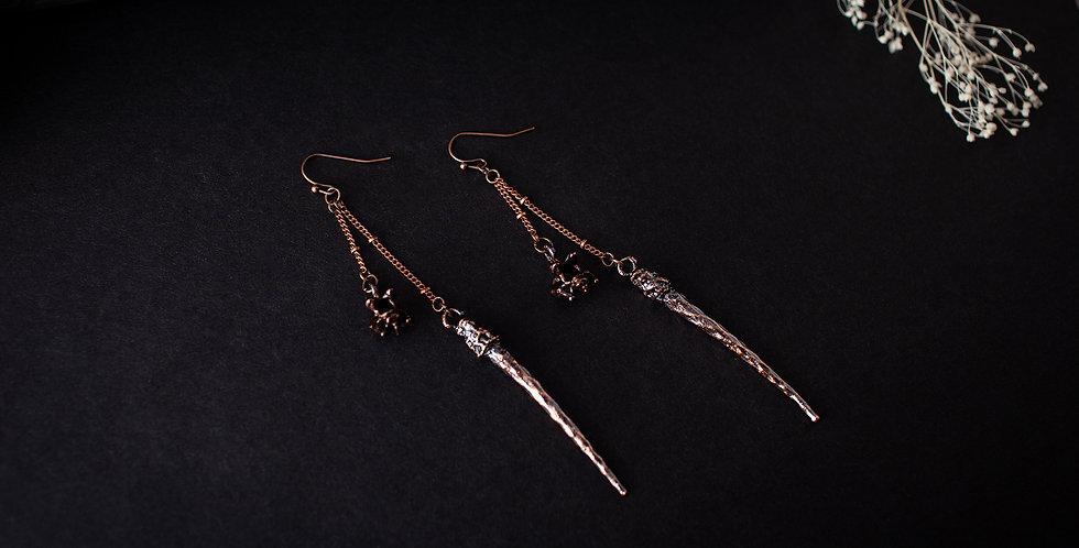 Vertebra Spike Earrings