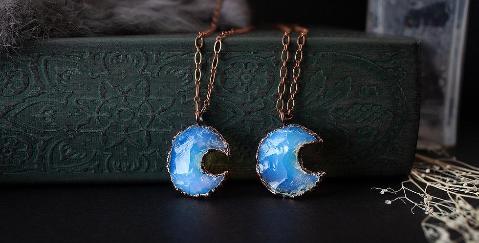 Opalite Moon Pendant