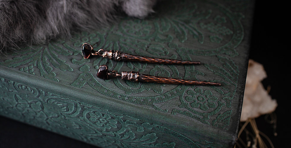 Garnet Spike Earrings