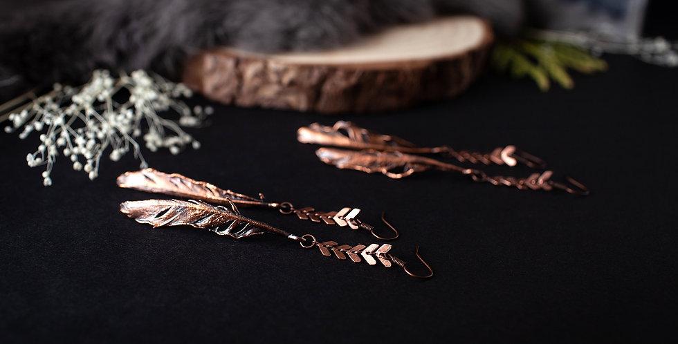 Dangle Feather Earrings