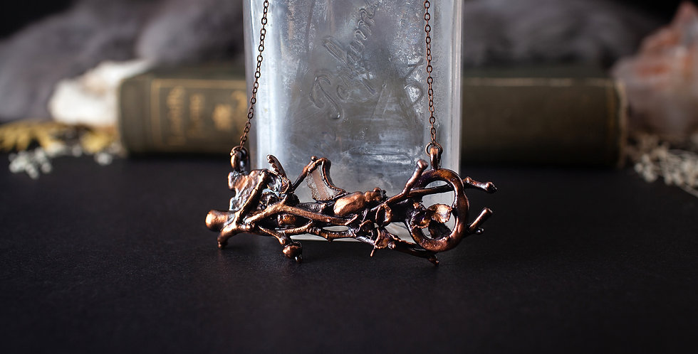 Nature Inspired Skeleton Key Necklace