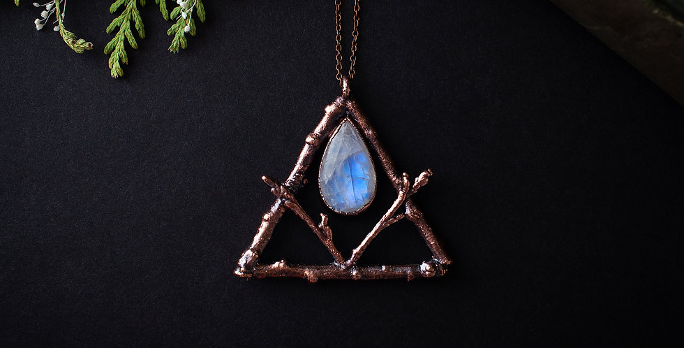 Moonstone Twig Necklace