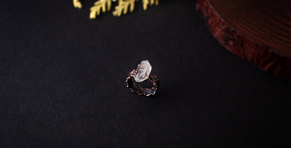 Herkimer Diamond Ring - Size 4 3/4