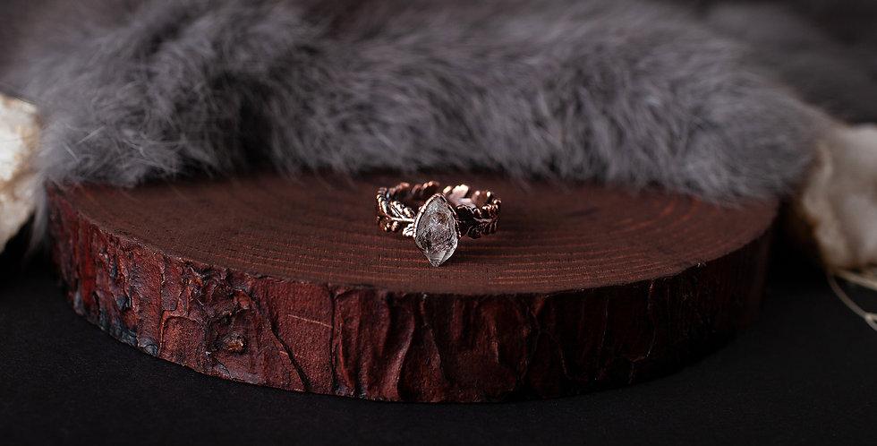 Herkimer Diamond Ring - Size 8 1/4