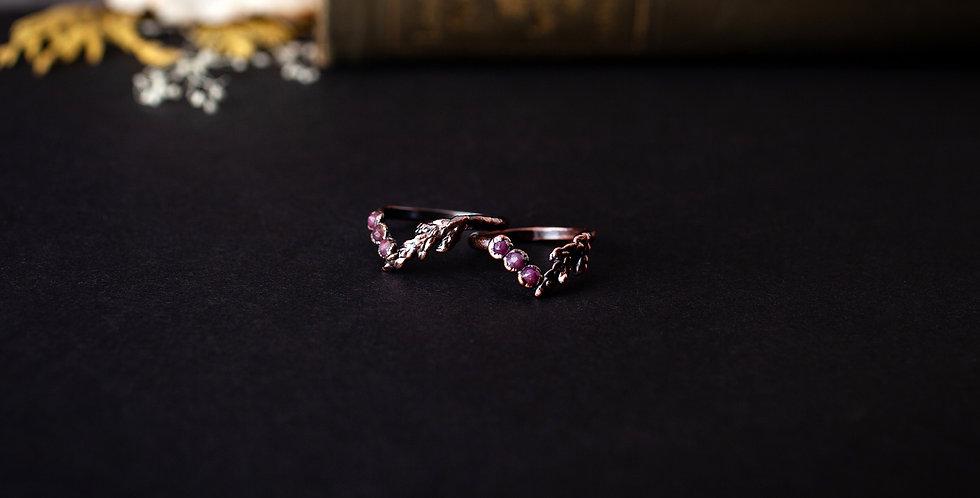Ruby Chevron Ring