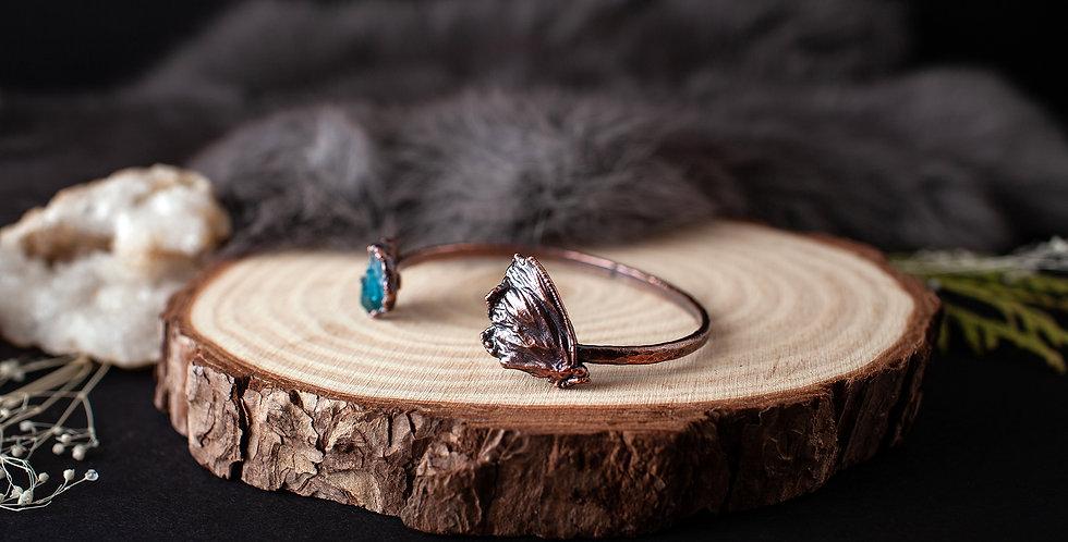 Blue Apatite Butterfly Bracelet / Medium